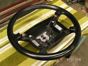 88 93 Saab 900 Black Leather Steering Wheel Srs