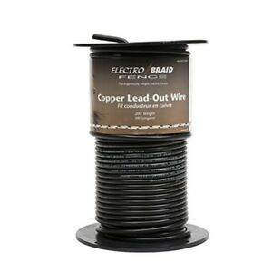 Electrobraid Ugcc200 eb High Voltage Insulated Copper Lead Out Wire 200 Foot