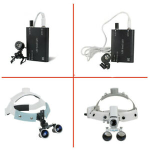 Surgical 3 5x r Dental Headband Medical Binocular Loupes Magnifier Led Headlight