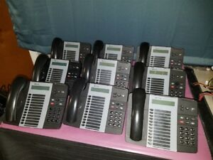 Lot Of 9 Mitel 5212 Ip Voip Business Telephone Phone W Base