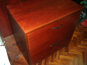 Lateral File Cabinet Cherry Finish Wood On 5 Sides Local Pickup Only