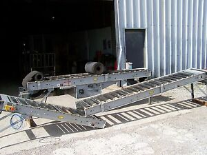 Hytrol 190 rb Roller Bed Type Powered 18 Wide Belt Conveyor 28 Oal X 24 Oaw