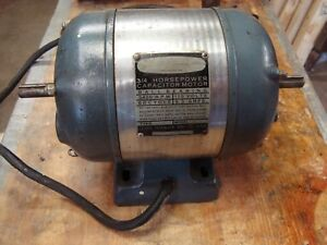 1948 Craftsman 3 4 Hp Electric Motor 3450 Rpm 60 Cycle 9 3 Amps 115v Free Ship
