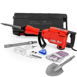Heavy Duty Electric Demolition Jack Hammer Concrete Breaker 2200 Watt W Shovel