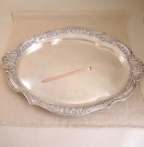 Big Antique German 800 Silver Tray Schleissner S Hne Hanau Chinese Figural 1236g