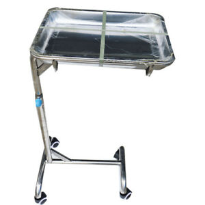Instrument Hospital Stand Tray Patient Room Double Post trolley New