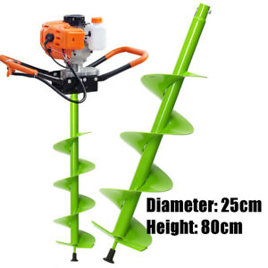 25cm Dia Auger Bit Electric Post Hole Digging Digger For Soil Ice Fence Decks