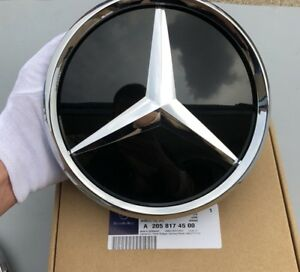 Front Grille Badge Mirror Gloss Emblem For Mercedes Benz E class Before 2016