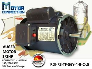 1 2 Hp Electric Motor Auger Motor 1800 rpm Single Phase 56y Frame
