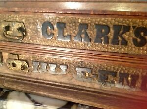 Antique Clark S Mile End Thread Cabinet American 2 Drawers Unrefinished