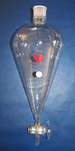 Labglass Separatory Funnel 3000ml 3 L 38 Intake 6mm Glass Stopcock