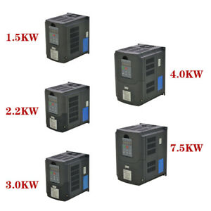 New 7 5kw 4kw 3kw 2 2kw 1 5kw 220v Variable Frequency Drive Inverter Vfd