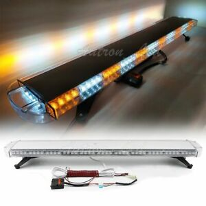 51 Strobe Lightbar 96w Led Emergency Beacon Tow plow Truck Response Amber White