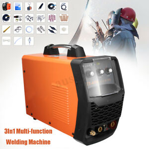 3in1 Multi function Air Plasma Cutter Mma Tig Cut Welder Display Welding Machine
