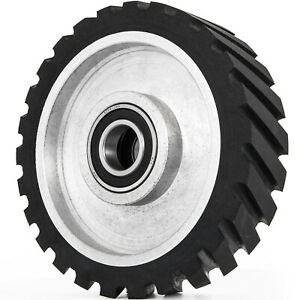 8 Serrated Contact Rubber Wheel For Belt Grinder Sander Dynamically Balanced