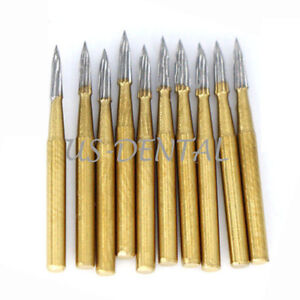 Dental Trimming Finishing Gold Burs Tungsten Dental Carbide Burs Fg 7903