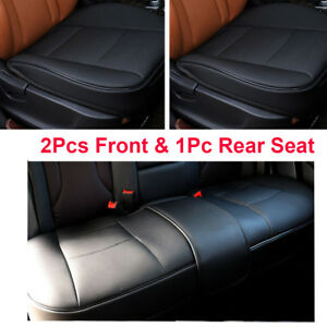 New Black Pu Leather Front back rear Car Seat Protector Seat Cover Accessories