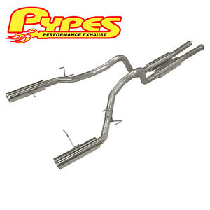 2011 2014 Ford Mustang Gt 5 0 Pypes 3 Super System Cat Back Exhaust Kit Sfm76m