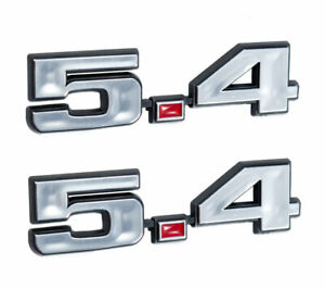 Ford Mustang 5 4 331 Stroker Engine Emblems Chrome Red 4 75 X 1 25 Pair