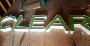 5 Green Neon Channel Letters C L E A R Sign Decor Wedding Nursery Man Cave Dorm