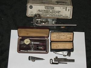 Gem Precision Dial Test Indicator J r Reich Mfg Ideal Craftsman Holder Vintage