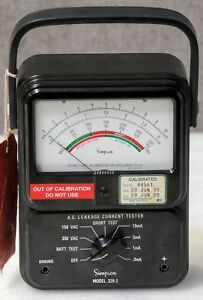 Simpson Model 229 2 Ac Leakage Current Tester