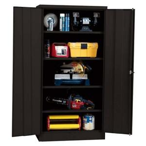 Metal Storage Cabinet With Steel Locking Doors Lock Garage Shop 72 Heavy Duty