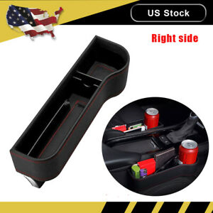 Right Car Seat Crevice Box Storage Cup Drink Holder Organizer Auto Gap Pocket