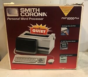 Smith Corona Personal Word Processor Pwp 6000 Plus Complete With Original Box