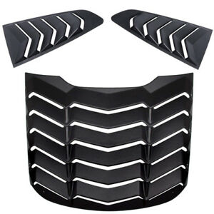 Abs Rear And Side Window Louver Sun Shade Cover For 2015 2018 Ford Mustang