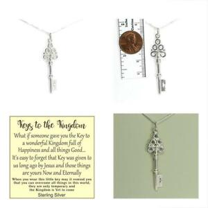 Key To The Kingdom Necklace Gift Boxed W Overcoming Hardships Story Card