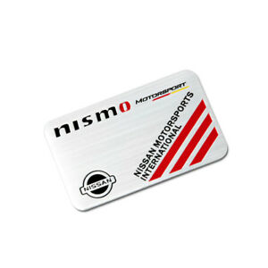 Aluminum Car Badge Sticker Emblem Side Decal Accessories Fit For Nismo Nissan