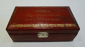 George Iii Leather Sewing Box By William Dobson Kirby S Pins Needles C 1810