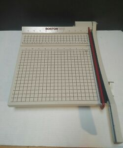 Boston 2612 Paper Cutter 12 Heavy Duty Trimmer Works Perfectly Clean