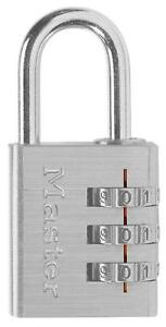 Master Lock 630d Combination Luggage Padlock silver 6 pack