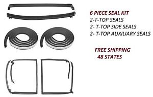 Weatherstrip T Top Rubber Seal Side Pane 6 Piece Kit 78 88 Gm G Body T Tops