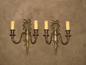 2 20 S French 15 1 4 X11 2l Solid Bronze Sconces Antique Sconces Exc Rare Save