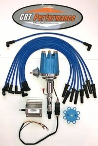 Amc Jeep 290 304 343 360 390 401 Small Cap Hei Distributor 60k Coil Wires