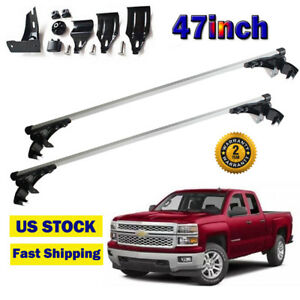 For Dodge Ram Ford F150 47 Car Top Luggage Cross Bar Roof Rack Carrier Skidproof