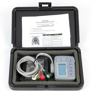 Burdick Vision 5l Holter Monitor System Tested With Battery Card And Leads