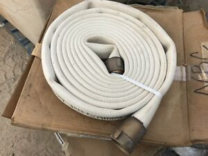 New Imperial Fire Hose 1 1 2 X 25 300psi With Brass Fittings
