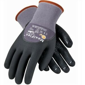 Pip 34 845 Maxiflex Dotted Palms 3 4 Coat Nitrile Micro foam Gloves Size S 2x