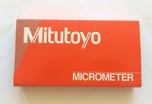 Mitutoyo Ratchet Thimble Outside Micrometer 2 To 3 Range in mm