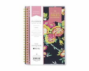 Blue Sky Bls103620 Day Designer Cyo Weekly monthly Planner 5 X 8 Navy floral