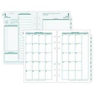 Franklin Covey 35418 Original Dated Weekly monthly Planner Refill Jan dec 4
