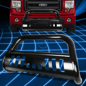 Black Ss Front Bumper Bull Bar Grille Guard For 1997 2004 F150 F250 Expedition