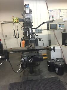 Bridgeport Ez Track Cnc Milling Machine 2 Axis Lcd Monitor 9 X 48 Table 2 Hp