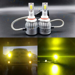 New 9006 Hb4 3000k Yellow 8000lm Cree Led Headlight Bulbs Kit High Low Beam Fog