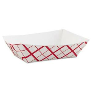 Southern Champion Tray Sch0425 Paper Food Baskets 3lb Red white 500 carton