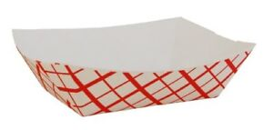 Southern Champion Tray Sch0413 Paper Food Baskets 1lb Red white 1000 carton